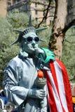 статуя nyc mime вольности Стоковая Фотография