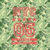 NYC-Mode-Armeeart lizenzfreie abbildung