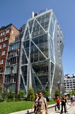 NYC: Modern Apt. Bldg. at the High Line Park Royalty Free Stock Images