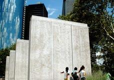 NYC: Monumentos de la guerra del parque de la batería Fotos de archivo libres de regalías