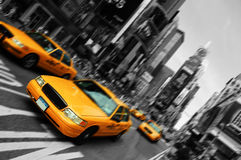 Nyc, mouvement d'orientation de tache floue, Times Square Images stock
