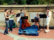NYC: Musicians in Central Park stock images