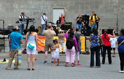 NYC: Musicians Performing in Central Park Royalty Free Stock Image