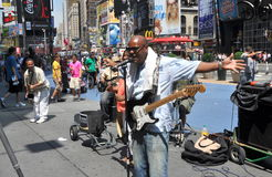 NYC: Musicians in Times Square Stock Images