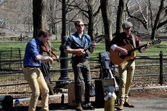 NYC:  Musicins Entertaining in Central Park Stock Image