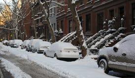 NYC nach Schneesturm Lizenzfreie Stockbilder