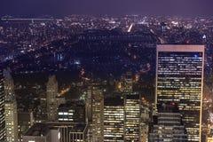 Nyc-Nachtansicht Stockbild