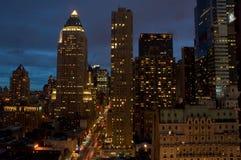 NYC nachts Stockfotografie