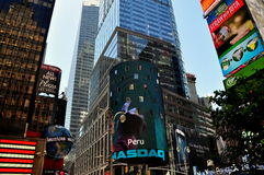 NYC: NASDAQ Exchange in Times Square Stock Photo
