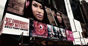 NYC-natt Arkivfoto