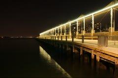NYC-nattsikt från Pier6, Royaltyfria Foton