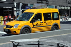 NYC:  New 2012 Taxi Cab Royalty Free Stock Photo