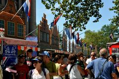 NYC: New Amsterdam by på bowlsplan Arkivfoto