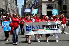 NYC:  New York Life at Gay Pride Parade Stock Photos