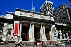 NYC: New York offentligt bibliotek Arkivbild