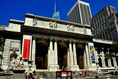 NYC:  The New York Public Library Royalty Free Stock Photo