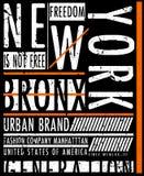 NYC, NEW YORK, Stock Vector Illustration T-Shirt Design, Print D. Esignesign fashion style royalty free illustration