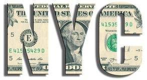 NYC - New York Struttura del dollaro americano Immagini Stock