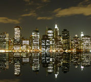 Nyc by night Stock Image