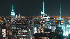 NYC night panorama Royalty Free Stock Photos