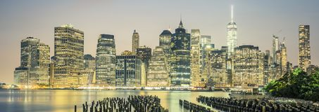 NYC by night, USA. Royalty Free Stock Photos