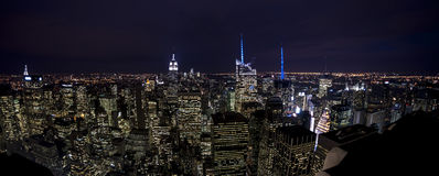 Nyc night view Royalty Free Stock Images