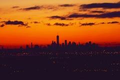 NYC, New York City, NYC, NY from NJ New Jersey. Royalty Free Stock Photo
