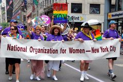 NYC:  NOW Marchers at Gay Pride Parade Stock Image