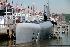 NYC: Nuclear Submarine Growler Royalty Free Stock Photography
