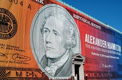 NYC: NY historische Gesellschaft-Hamilton-Fassade Stockbild