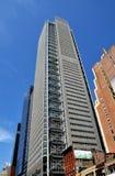 NYC: NY mide el tiempo de la torre en la 8va avenida Imágenes de archivo libres de regalías