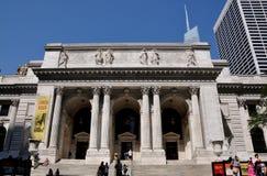 NYC: NYC-offentligt bibliotek Royaltyfri Fotografi