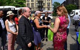 NYC: NYC: Político en el evento ambiental Fotografía de archivo