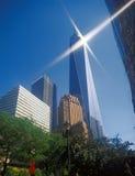 NYC - oben schauend Lizenzfreie Stockfotografie