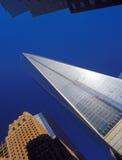 NYC - oben schauend Stockfoto