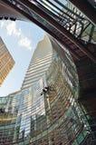 NYC - oben schauend Lizenzfreie Stockbilder