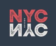 NYC odzieży i koszulki projekt z textured literowaniem Zdjęcie Stock