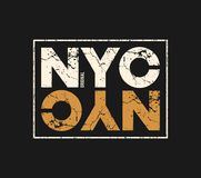 NYC original t-shirt and apparel design with grunge effect. Royalty Free Stock Images