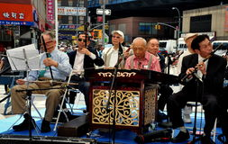 NYC: Orquestra do chinês do idoso Foto de Stock