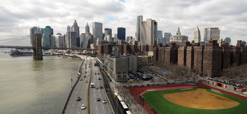 NYC Panorama Stockbilder
