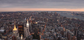 NYC Panorama stockfoto