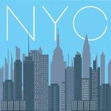 NYC- panorama Nowy Jork miasto Obrazy Royalty Free