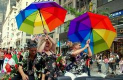 NYC: Parada alegre do orgulho Foto de Stock