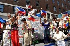NYC: Parada do Dia da Independência de Filipinas Imagem de Stock