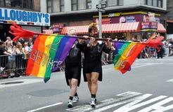 NYC: Parada do orgulho de 2010 homossexual Foto de Stock Royalty Free