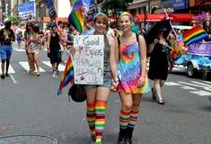 NYC: Parada do orgulho de 2012 homossexual Fotos de Stock
