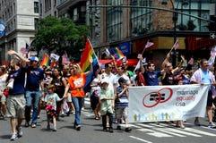 NYC: Parada do orgulho de 2012 homossexual Imagem de Stock