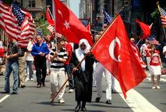 NYC: Parada turca do dia fotos de stock royalty free