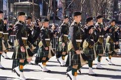 2015 NYC Parade 13 van de Geruit Schots wollen stofdag Royalty-vrije Stock Fotografie