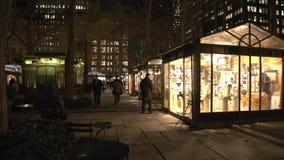 NYC-Park nachts (3 von 5) stock video
